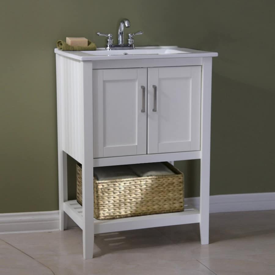 integral bathroom sink shop legion furniture white integral single sink bathroom 13268