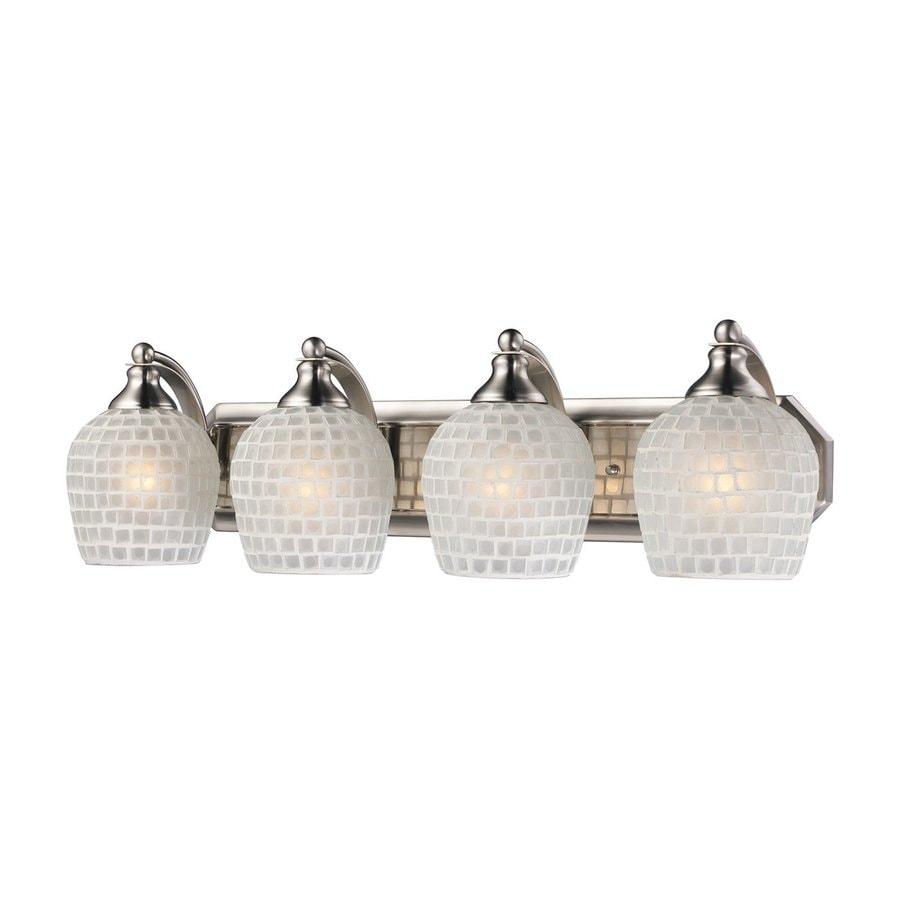 Westmore Lighting Homestead 4-Light 7-in Satin Nickel Bell Vanity Light