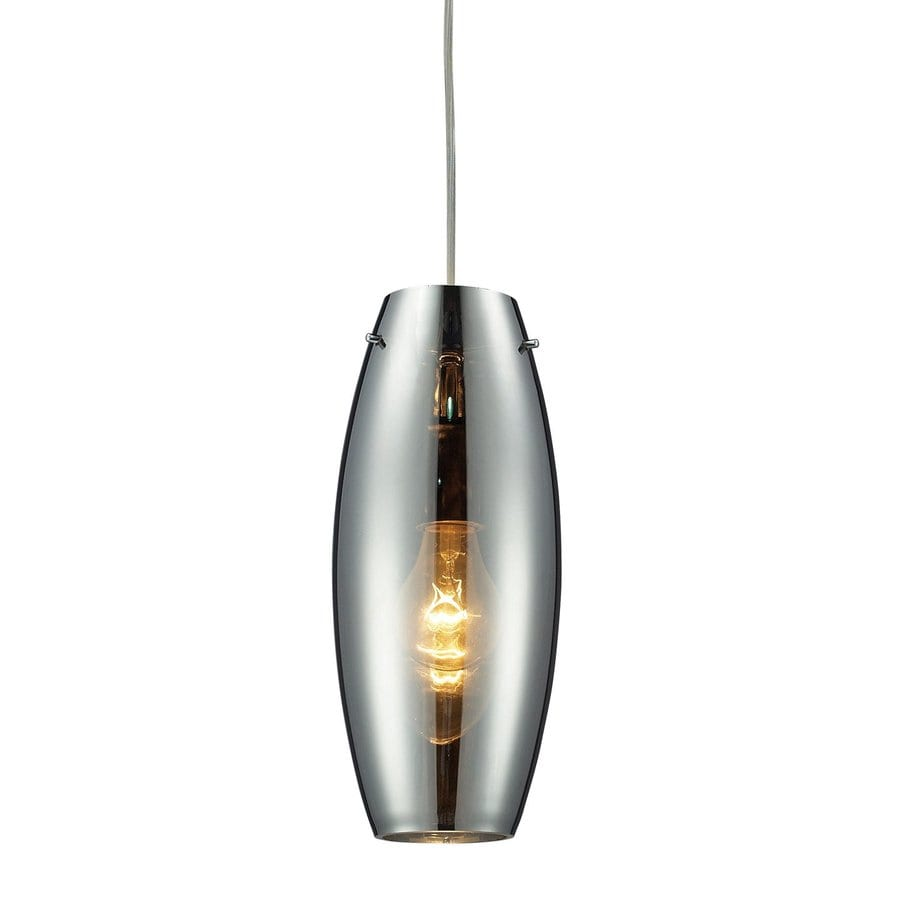 Westmore Lighting Menlow 5-in Polished Chrome Hardwired Mini Clear Glass Cylinder Pendant