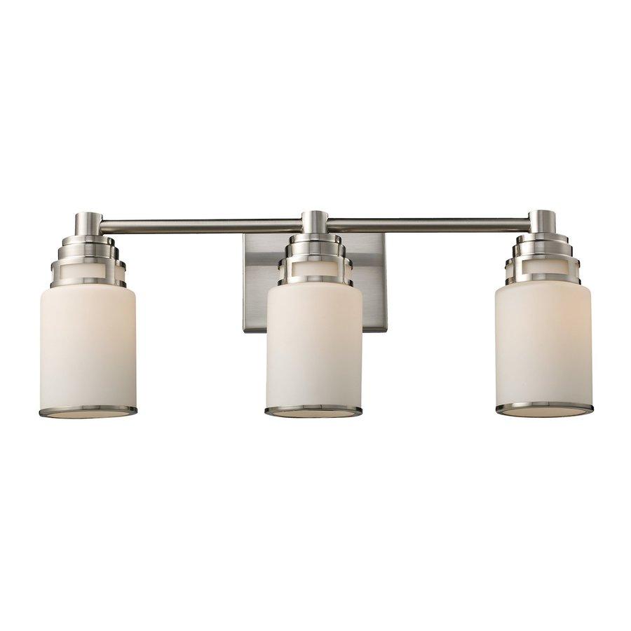 Westmore Lighting Echo Park 3-Light 9-in Satin Nickel Cylinder Vanity Light