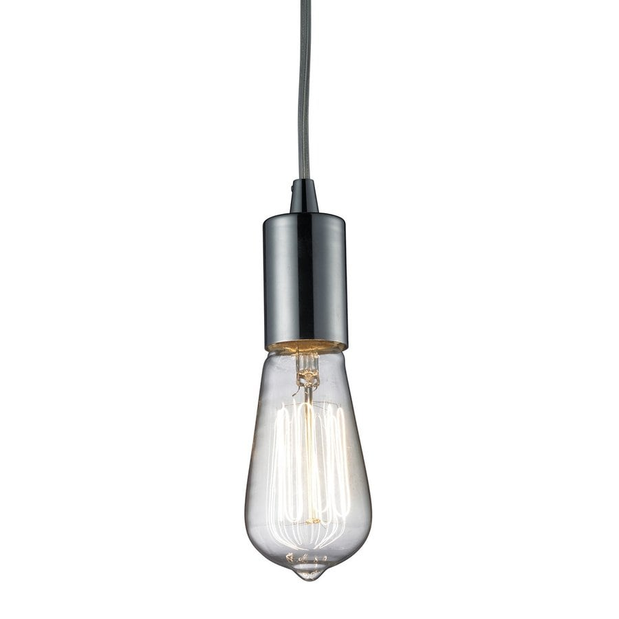 Westmore Lighting Alvingham 2-in Polished Chrome Industrial Hardwired Mini Pendant