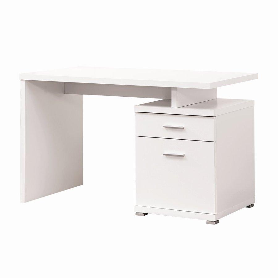 Coaster Fine Furniture Contemporary White Computer Desk