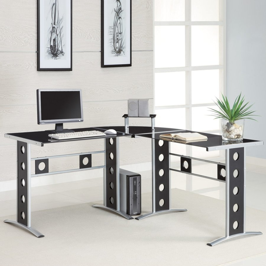 Charmant Coaster Fine Furniture Contemporary Black Corner Desk