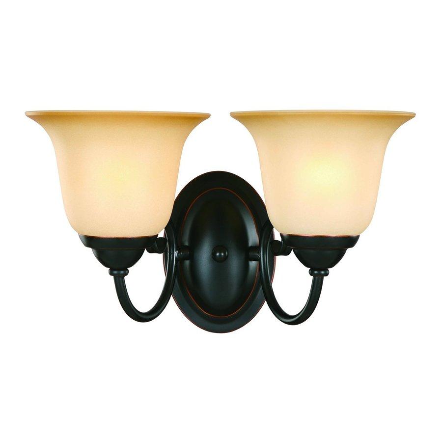 Hardware House Essex 2-Light 8-in Classic Bronze Bell Standard Vanity Light