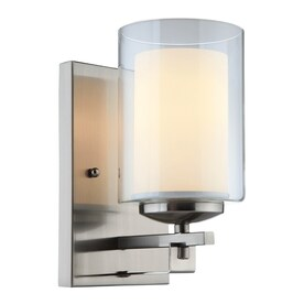 Hardware House El Dorado 4.5 In W 1 Light Satin Nickel Arm Wall Sconce