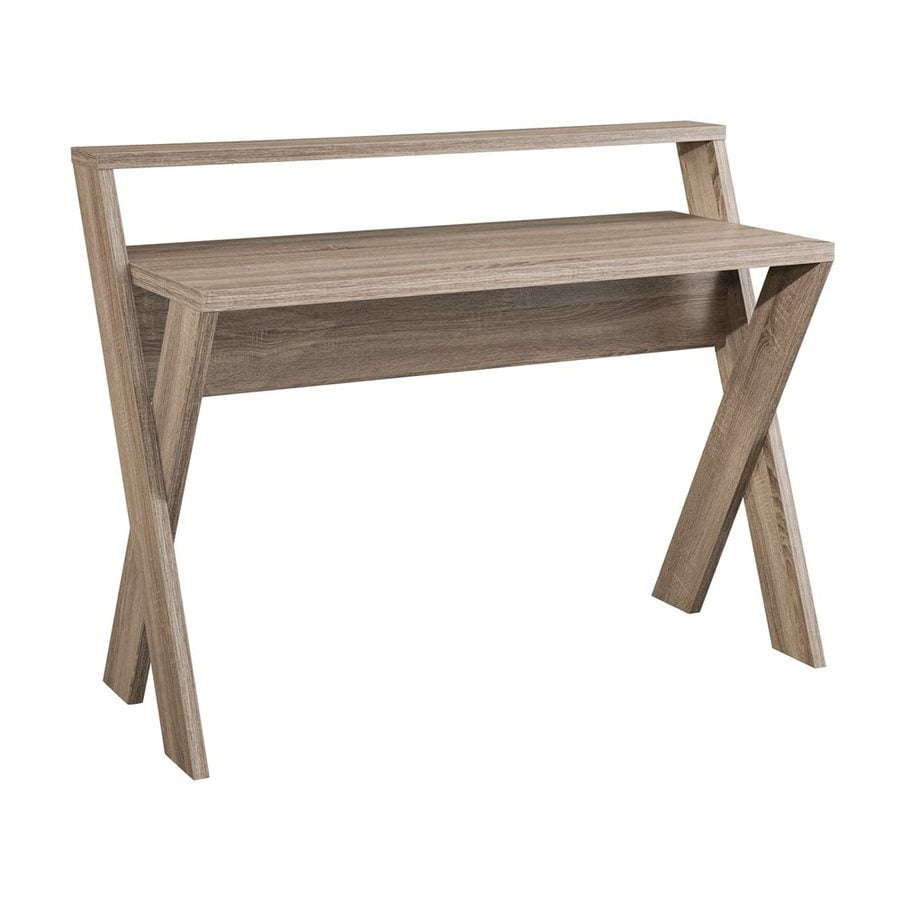 Enitial Lab Marilyn Contemporary Light Oak Writing Desk