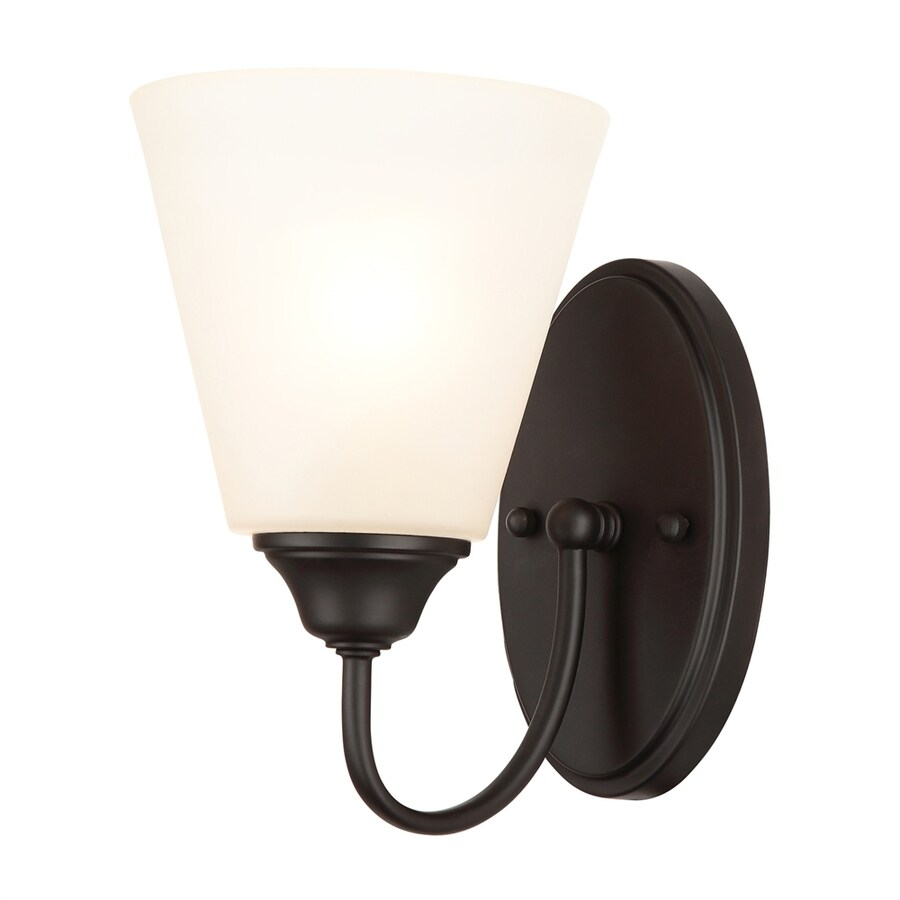 Hardware House Galveston 5.75-in W 1-Light Black Arm Wall Sconce