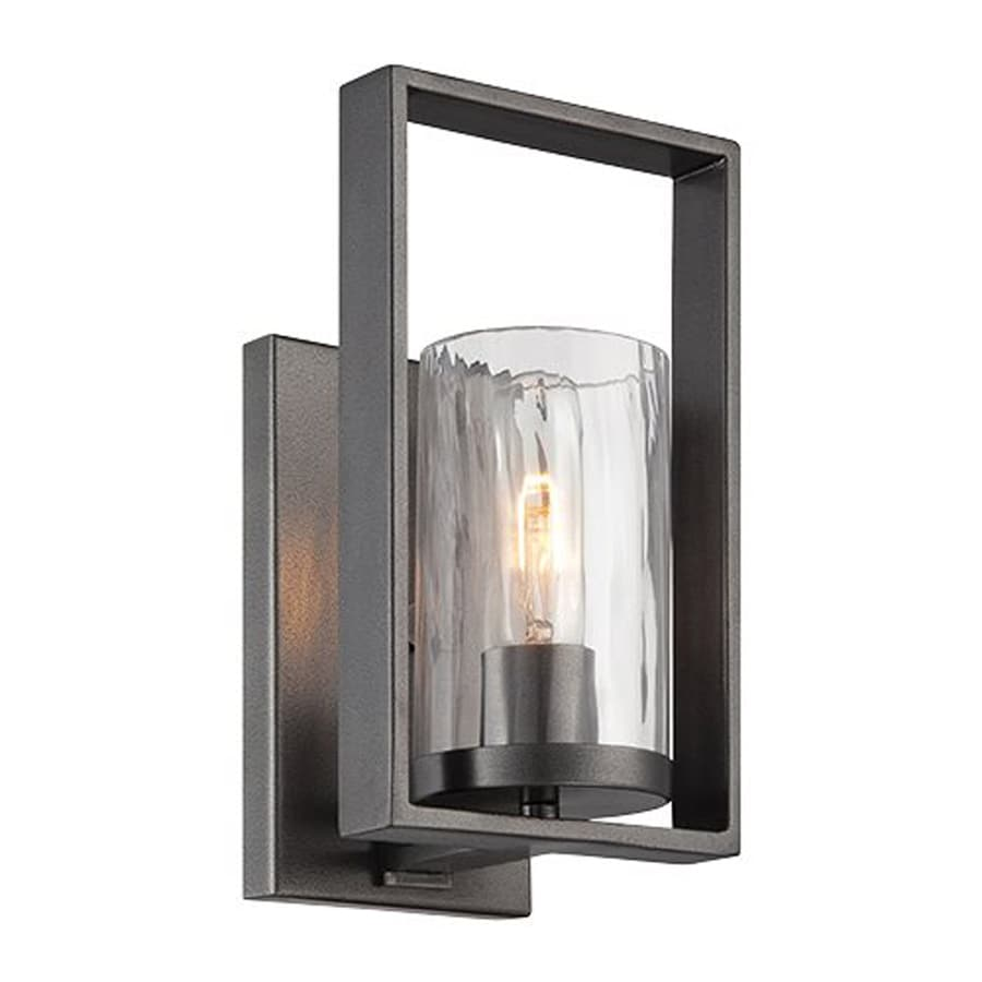Cascadia Lighting Elements 6-in W 1-Light Charcoal Arm Wall Sconce