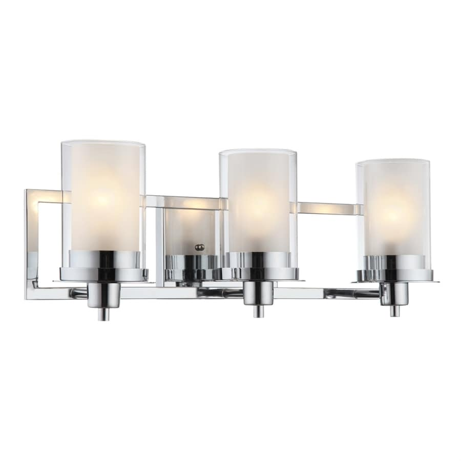 Shop hardware house avalon 3 light chrome cylinder for Bathroom vanity fixtures