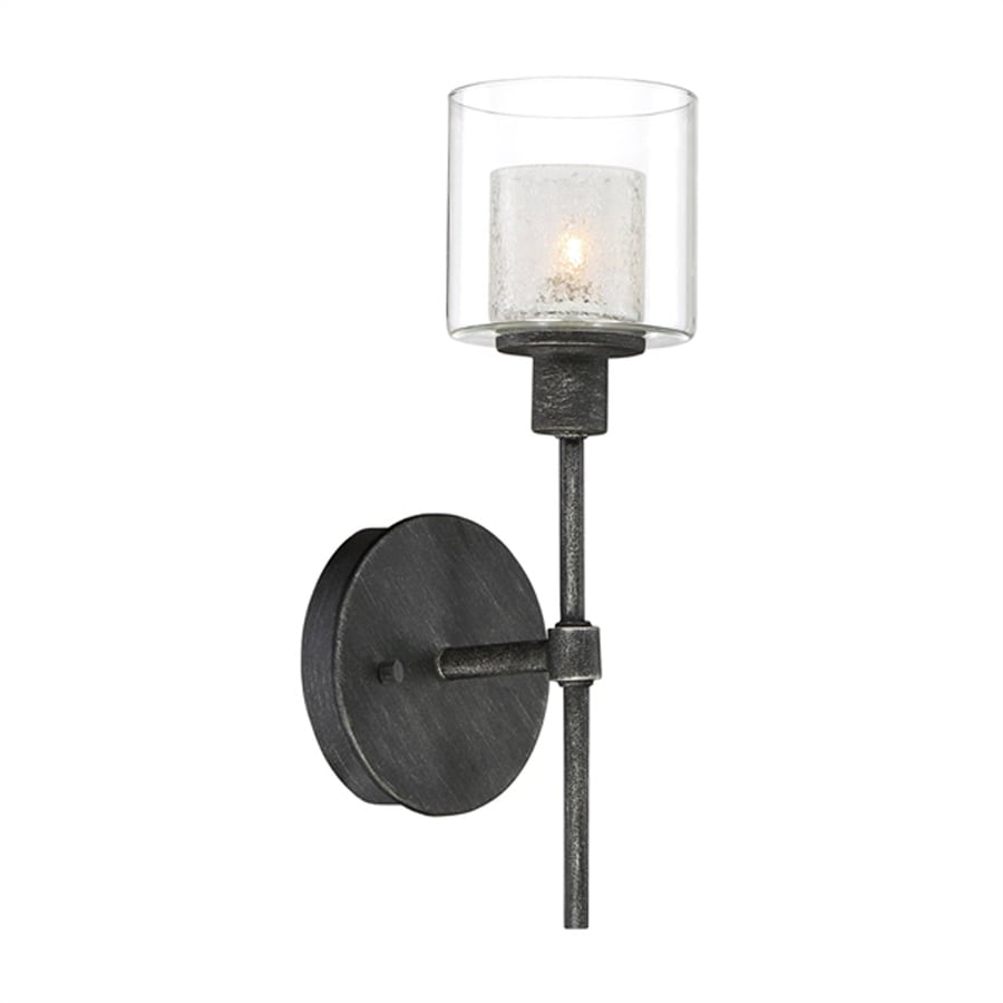 Cascadia Lighting Cazadero 5-in W 1-Light Weathered pewter Arm Wall Sconce