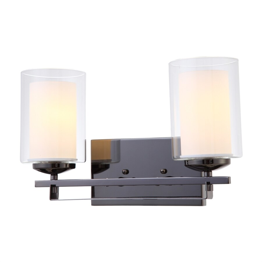 Hardware House El Dorado 2-Light 9-in Ebony glaze Cylinder Vanity Light