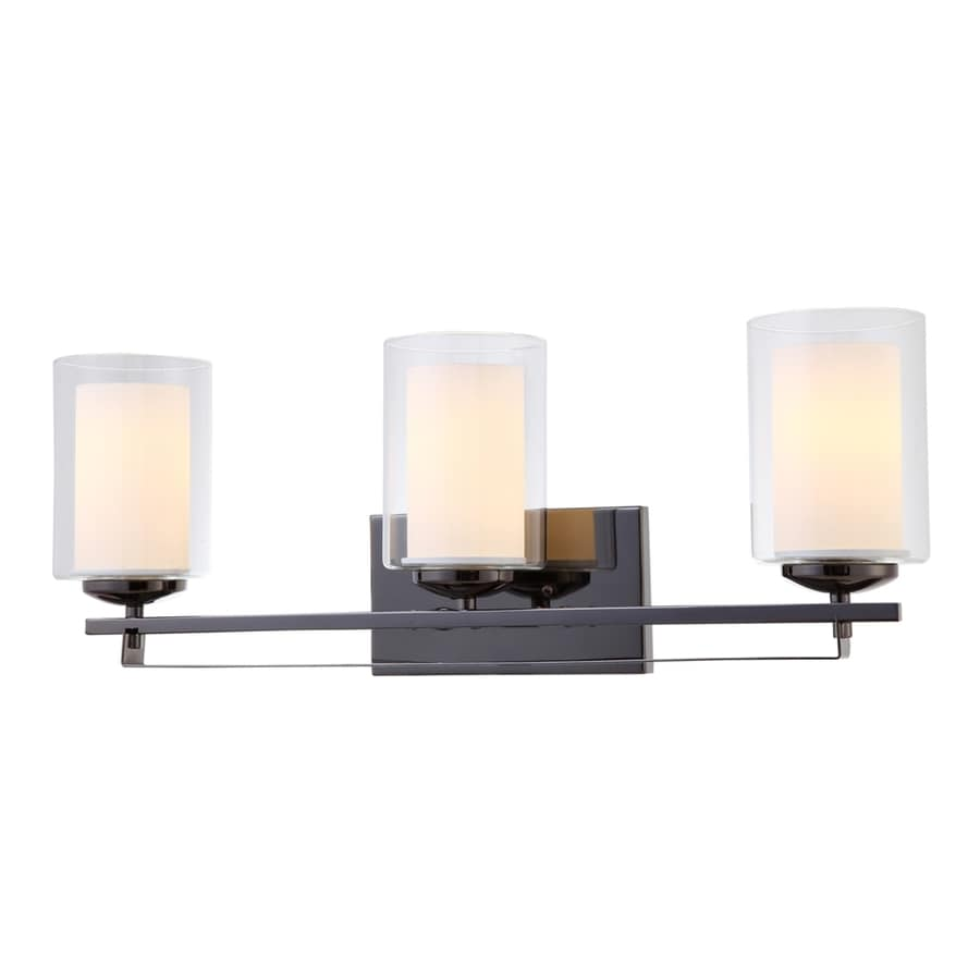 Hardware House El Dorado 3-Light 9-in Ebony Glaze Cylinder Standard Vanity Light