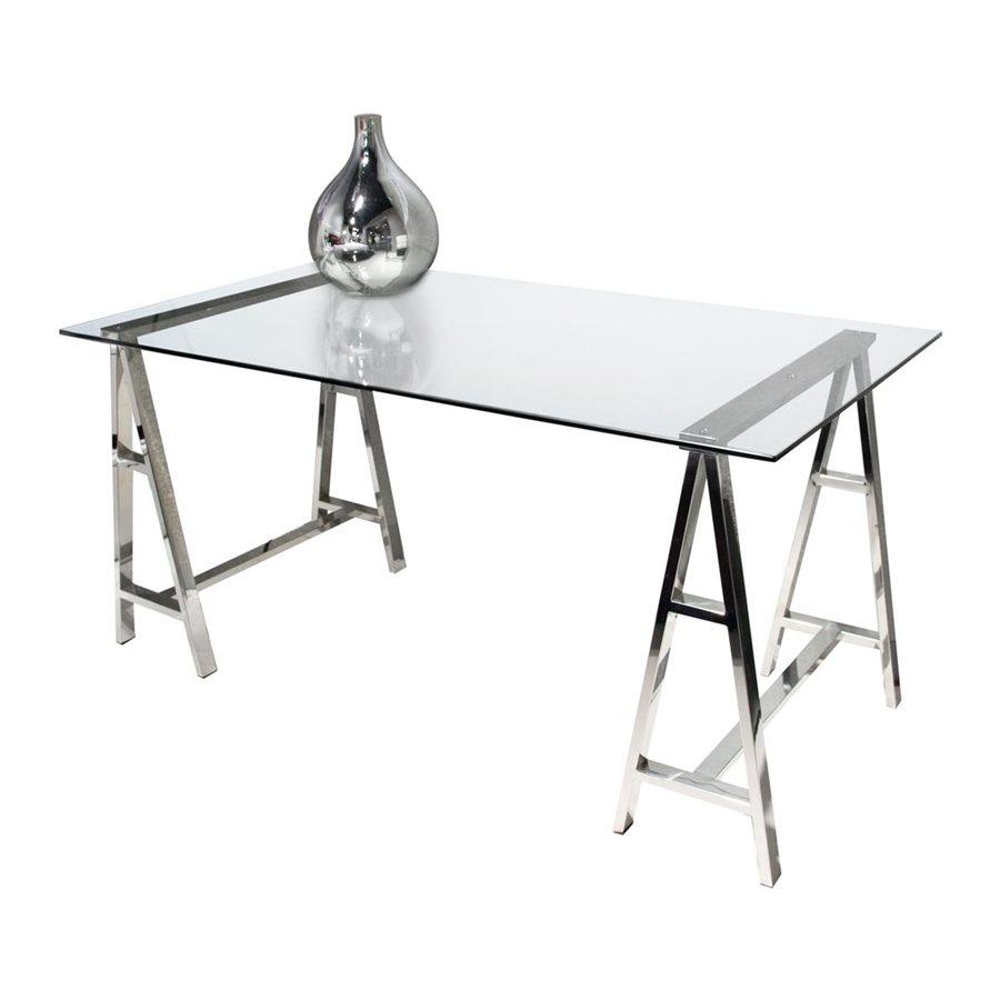 Diamond Sofa Contemporary Clear Writing Desk