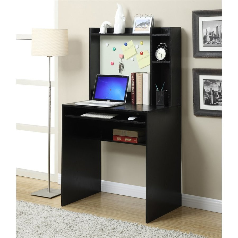 Convenience Concepts Designs2Go Transitional Black Writing Desk