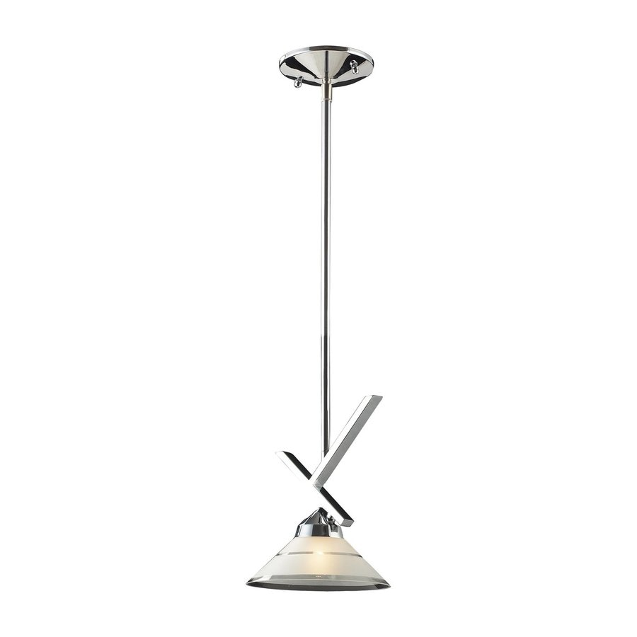 Westmore Lighting Beryl 7-in Polished Chrome Hardwired Mini Cone Pendant