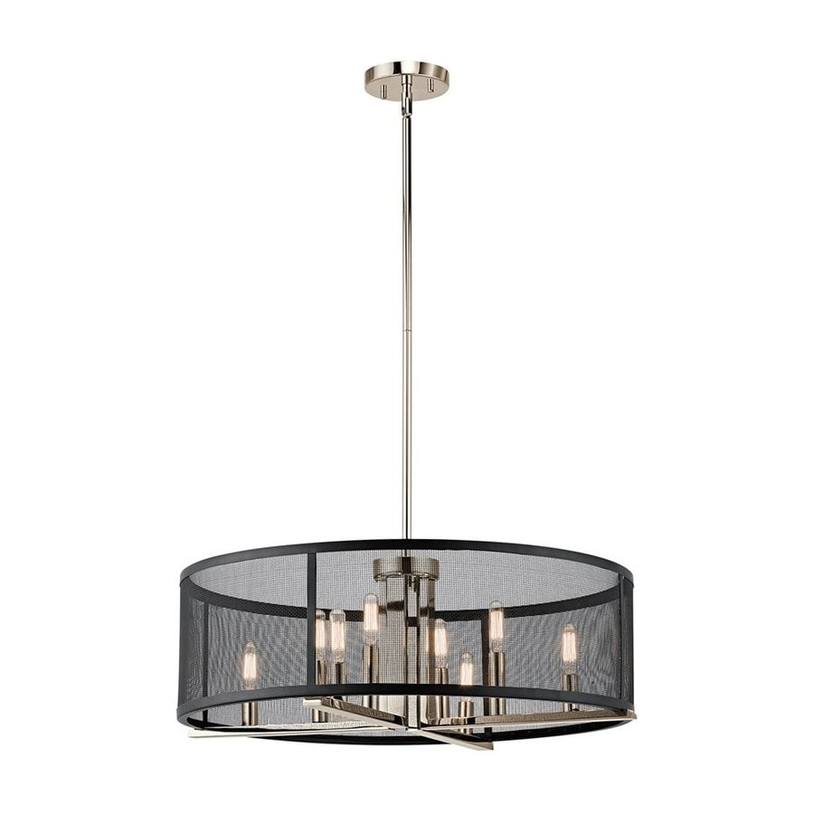 Kichler Titus 25-in 8-Light Polished nickel Candle Chandelier