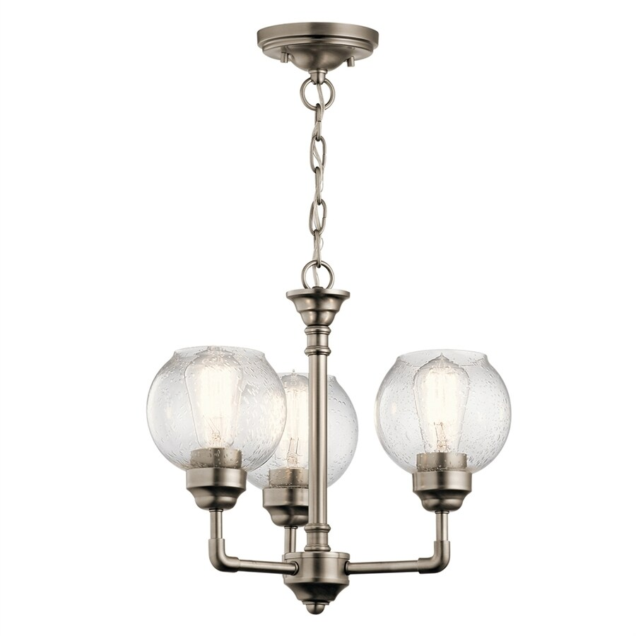 Kichler Niles 3 Light Antique Pewter Transitional Seeded