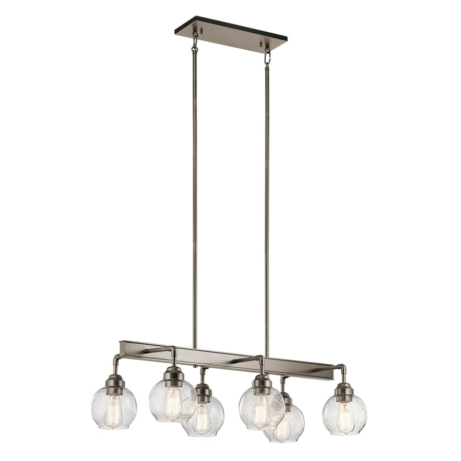 Shop kichler niles 3225 in 6 light antique pewter hardwired seeded kichler niles 3225 in 6 light antique pewter hardwired seeded glass shaded chandelier aloadofball Images