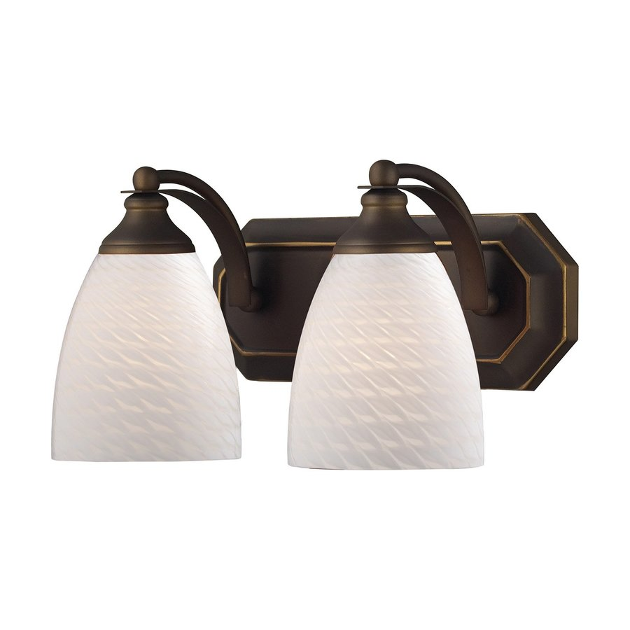 Westmore Lighting Homestead 2-Light 7-in Aged Bronze Bell Vanity Light