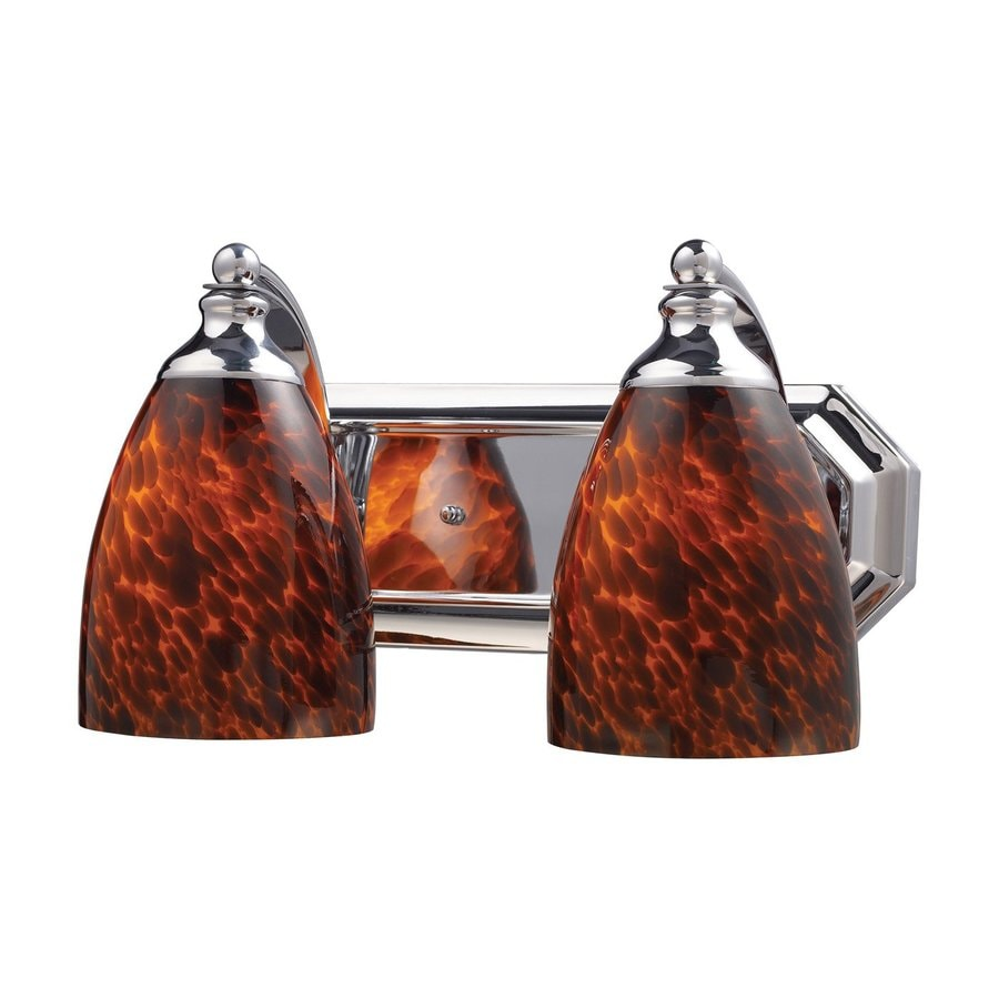 Westmore Lighting Homestead 2-Light 7-in Polished Chrome Bell Vanity Light