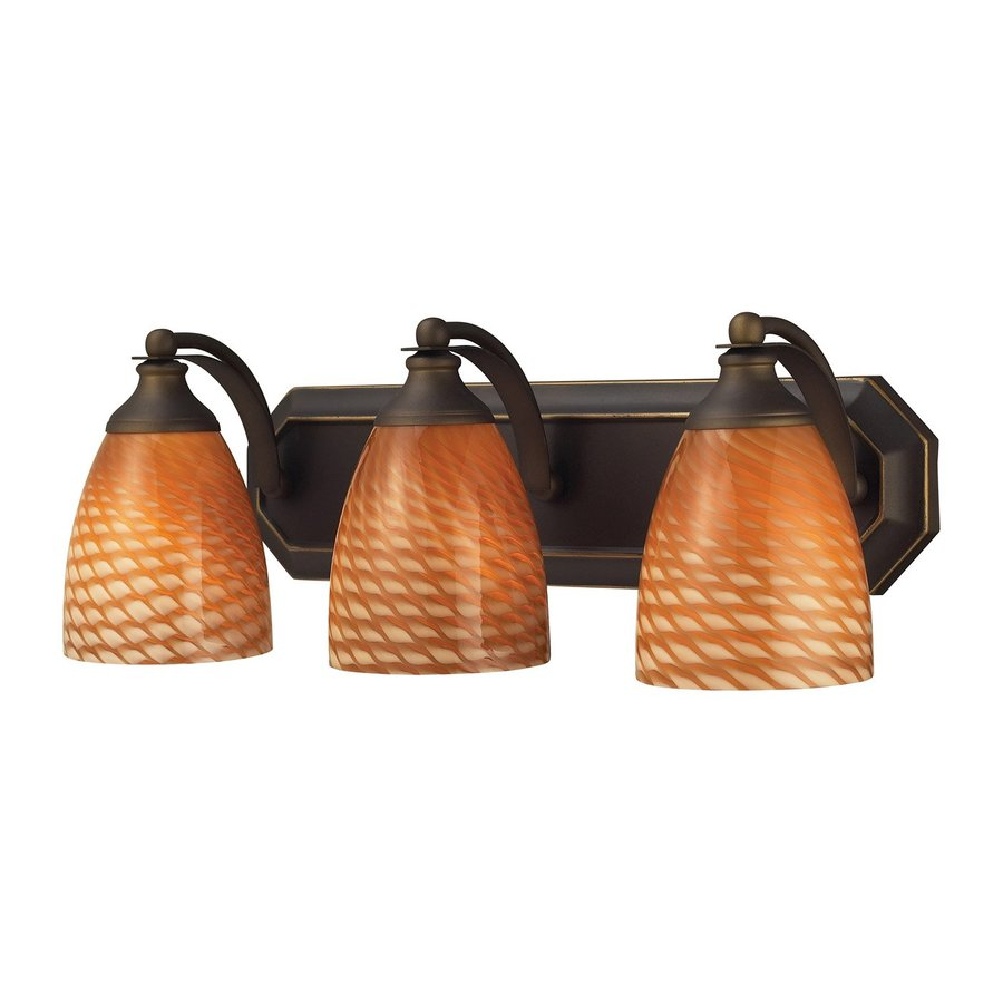 Westmore Lighting Homestead 3-Light 7-in Aged Bronze Bell Vanity Light