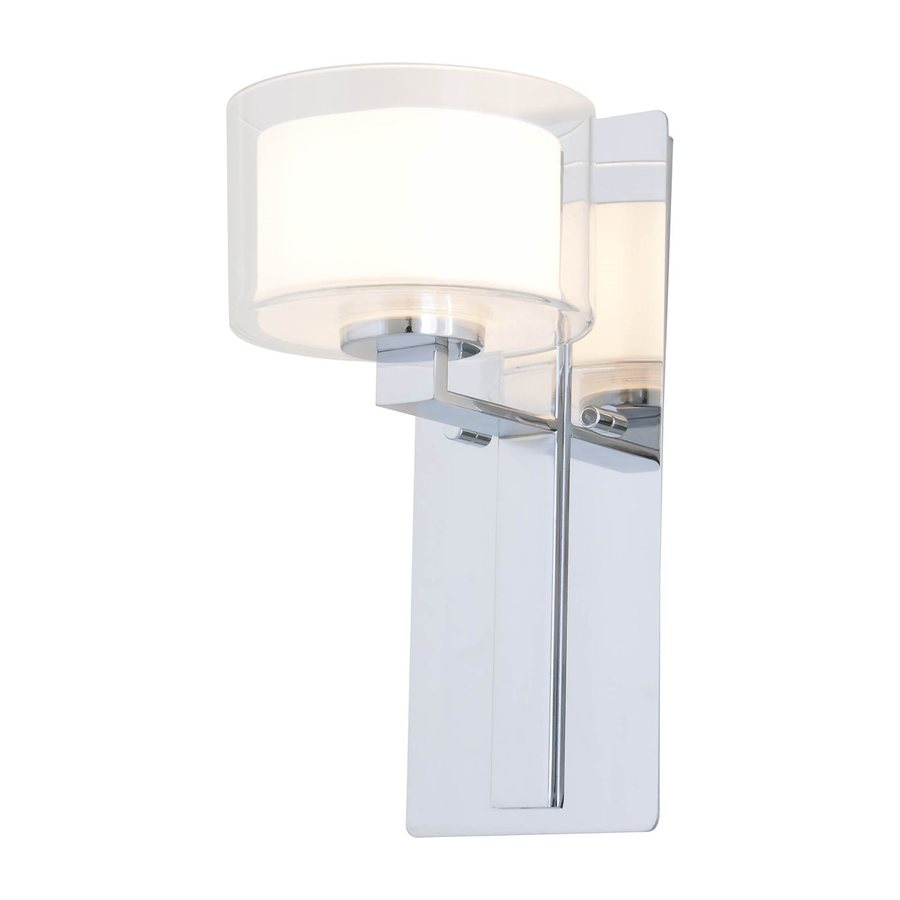 DVI Princeton 6-in W 1-Light Chrome Arm Wall Sconce