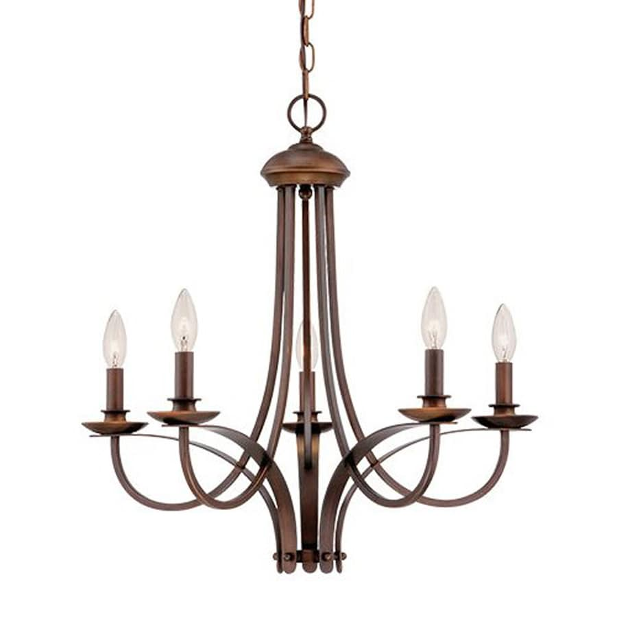 Millennium Lighting 23.75-in 5-Light Rubbed bronze Williamsburg Candle Chandelier