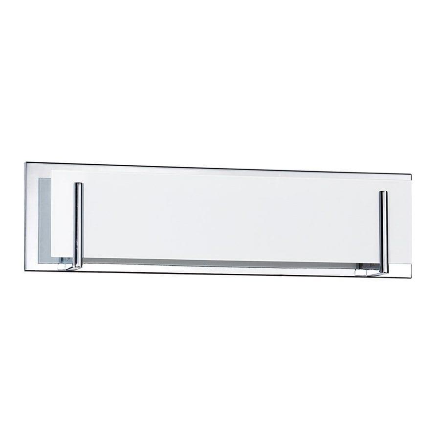 Kendal Lighting Aurora 4-Light 6.5-in Chrome Rectangle Vanity Light Bar