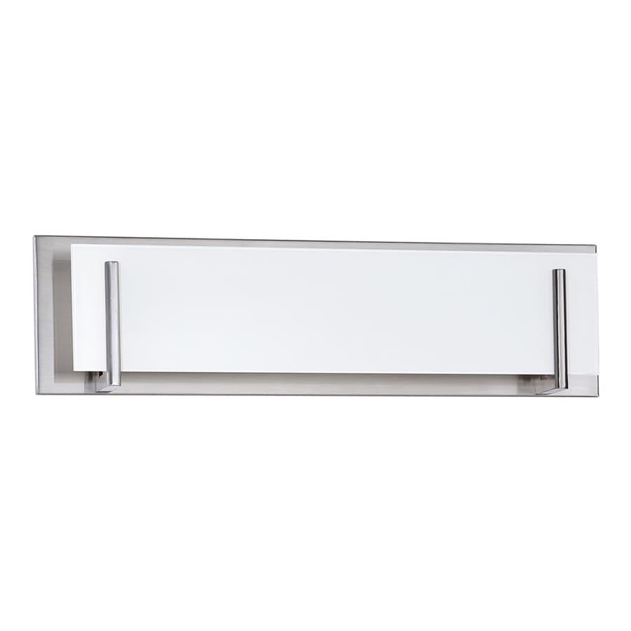 Kendal Lighting Aurora 4-Light 6.5-in Satin nickel Rectangle Vanity Light Bar