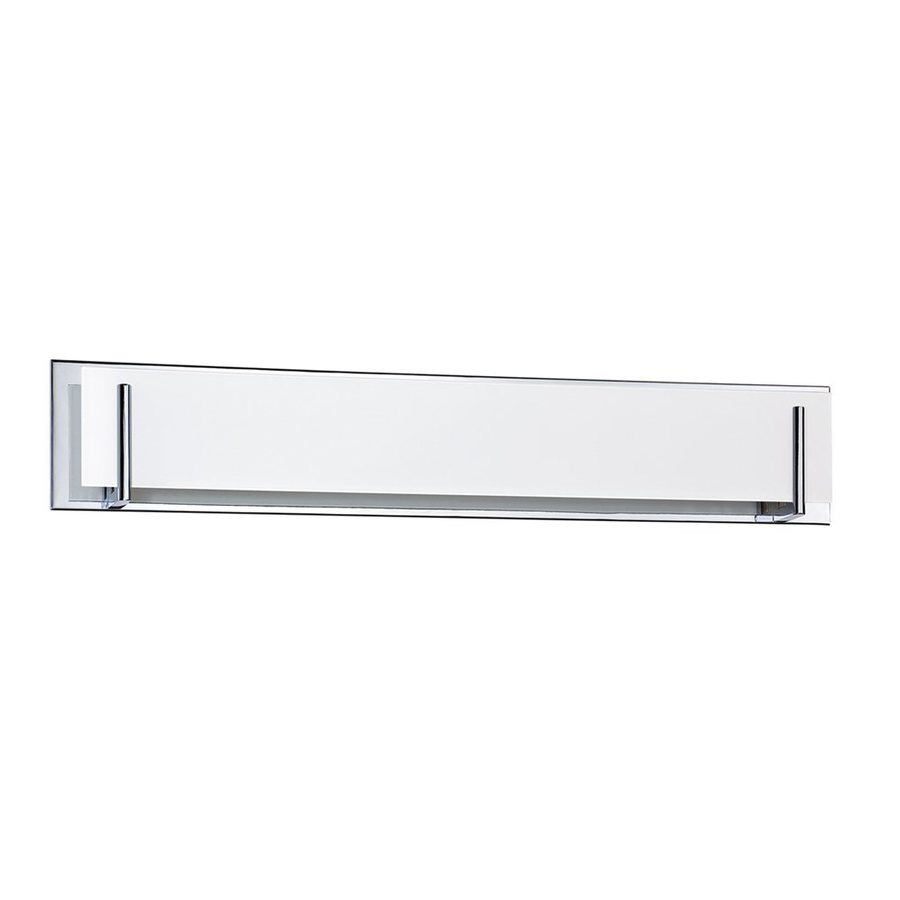 Vanity Light Bar Height : Shop Kendal Lighting Aurora 6-Light 6.5-in Chrome Rectangle Vanity Light Bar at Lowes.com