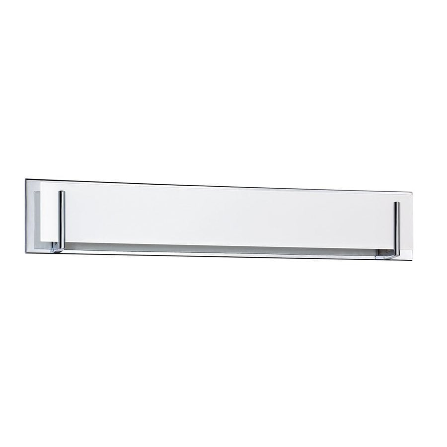 Shop Kendal Lighting Aurora 6-Light 6.5-in Chrome Rectangle Vanity Light Bar at Lowes.com