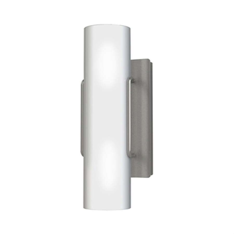 Kendal Lighting Nextra 4.72-in W 1-Light Satin Nickel Ambient Hardwired Wall Sconce
