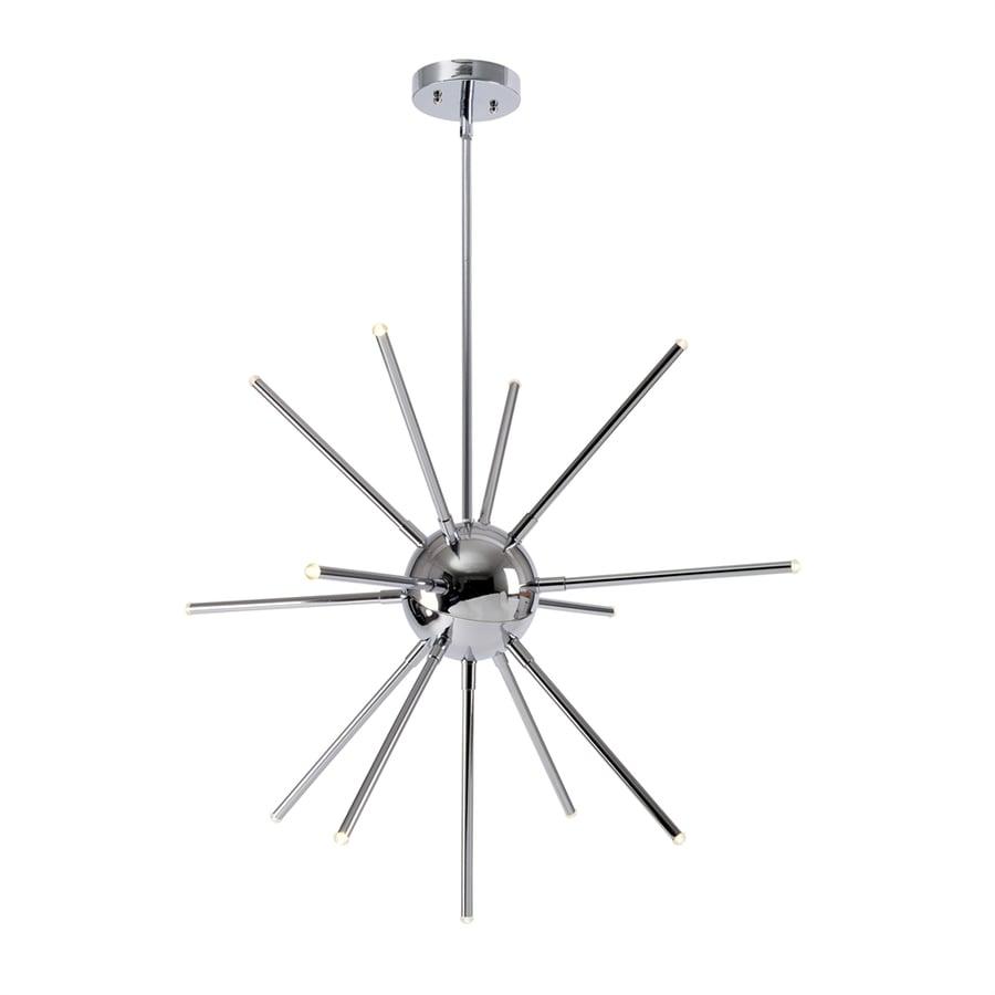 Kenroy Home Atom 28.5-in 13-Light Chrome Novelty Abstract LED Chandelier