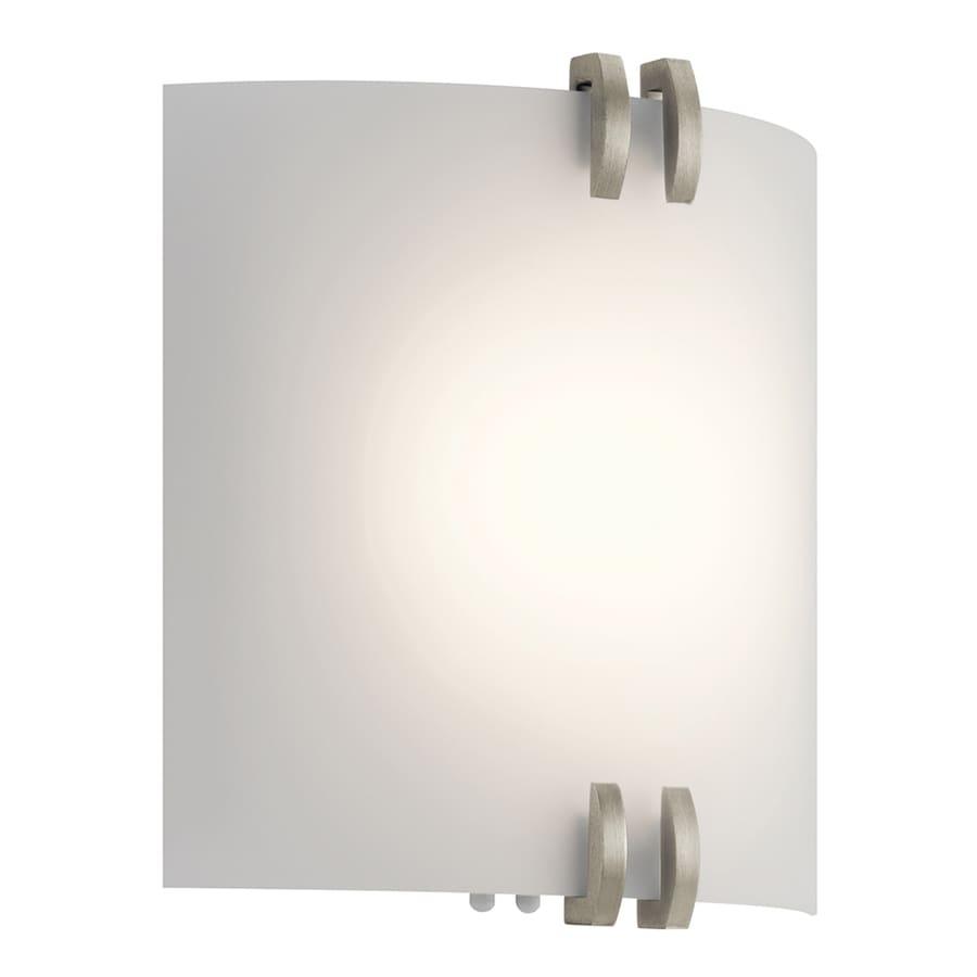 Kichler 11-in W 1-Light Brushed nickel Pocket LED Wall Sconce ENERGY STAR