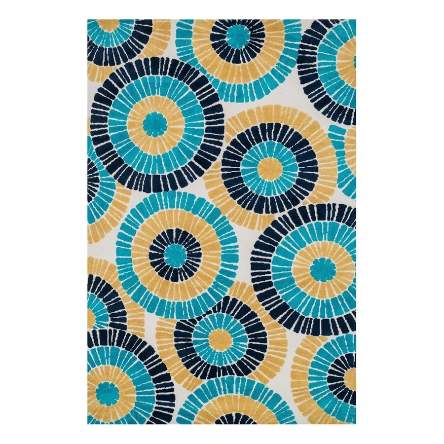 Loloi Cassidy Blue/Multicolor Rectangular Indoor Machine-Made Area Rug (Common: 7 x 9; Actual: 7.5-ft W x 9.5-ft L)