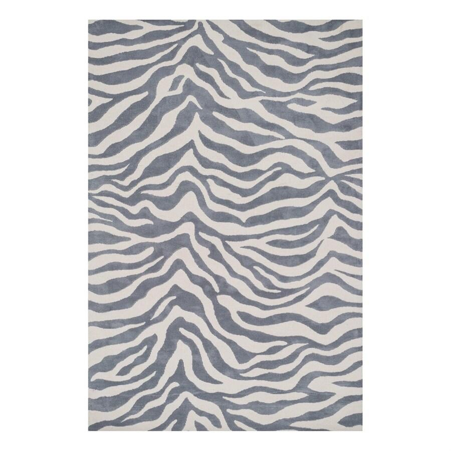 Loloi Cassidy Ivory/Grey Rectangular Indoor Machine-Made Safari Area Rug (Common: 2 x 3; Actual: 2.25-ft W x 3.75-ft L)