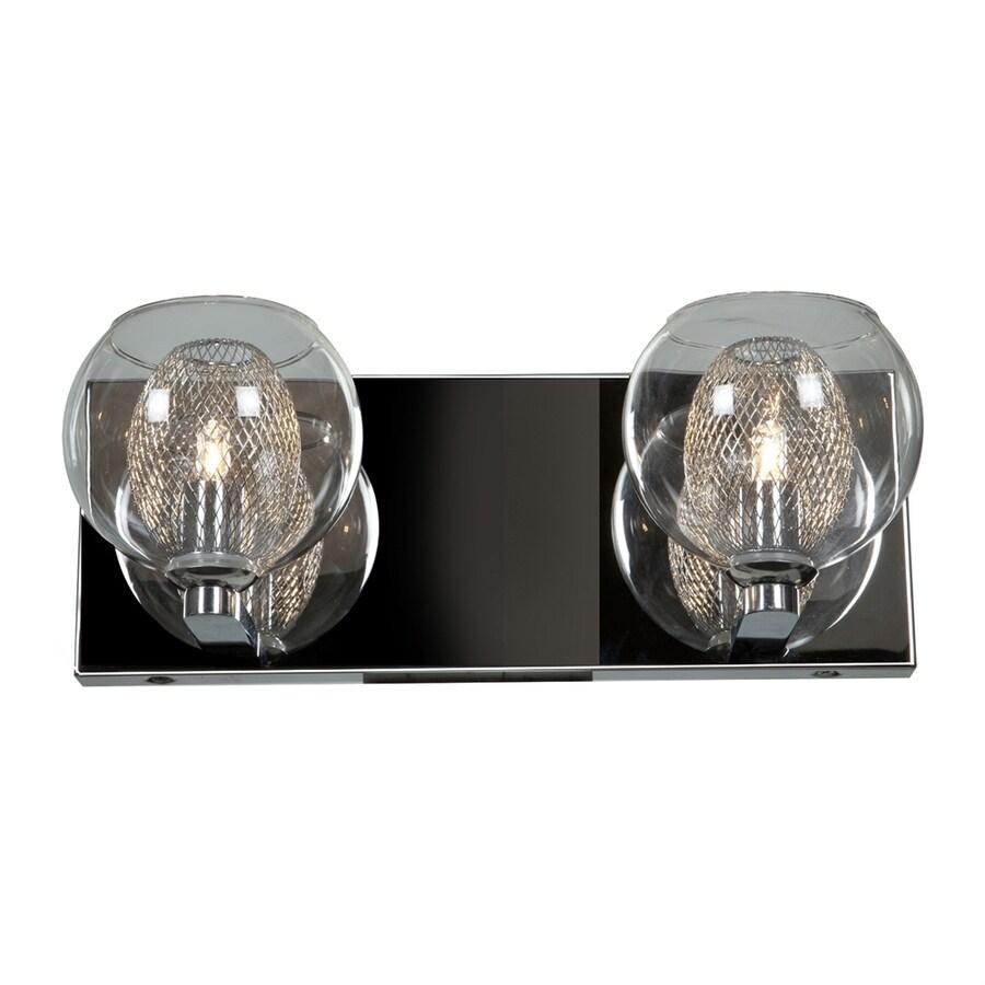 Access Lighting Aeria 2-Light 4.75-in Chrome Globe Vanity Light Bar