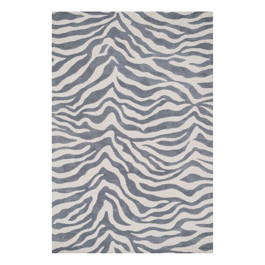 Loloi Cassidy Ivory/Grey Rectangular Indoor Machine-Made Safari Area Rug (Common: 5 x 7; Actual: 5-ft W x 7.5-ft L)