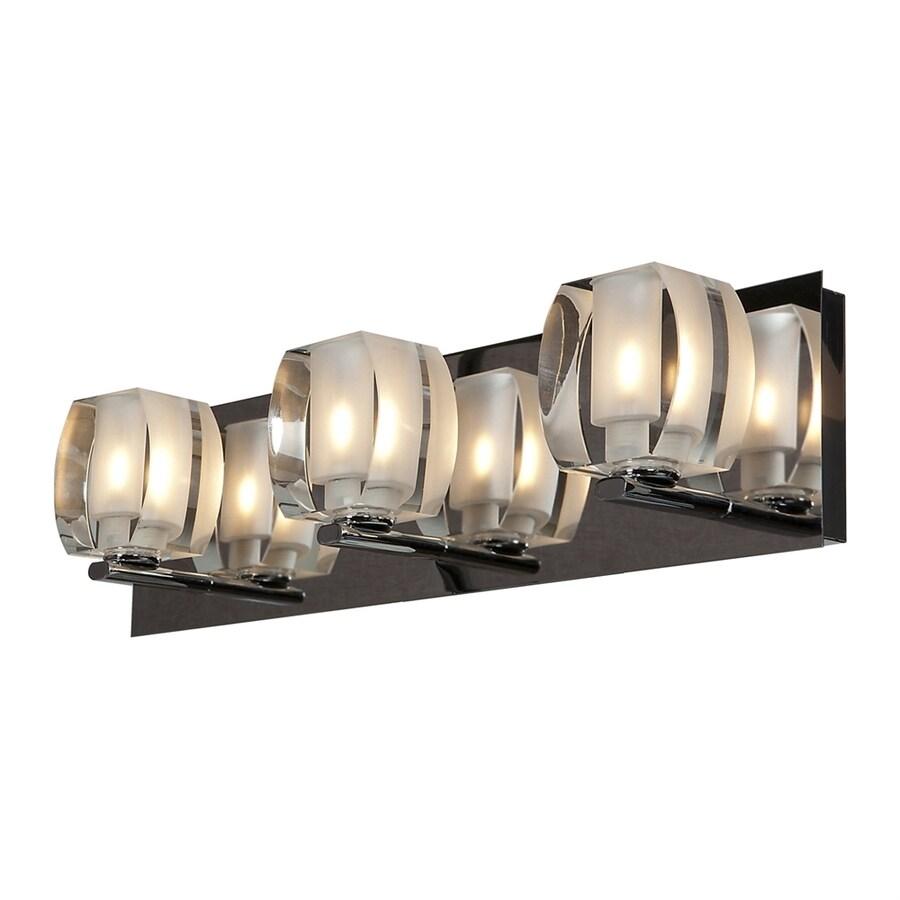 Access Lighting Evia 3-Light 4.75-in Chrome Square Vanity Light Bar