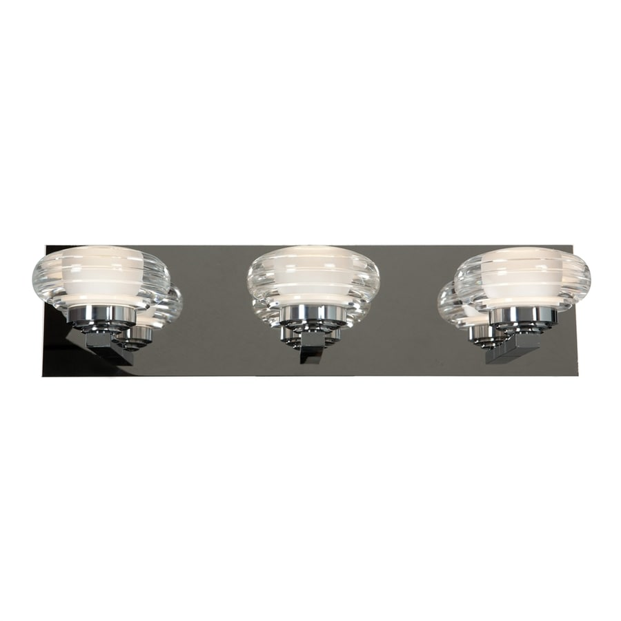 Access Lighting Optix 3-Light 4.75-in Chrome Oval LED Vanity Light Bar