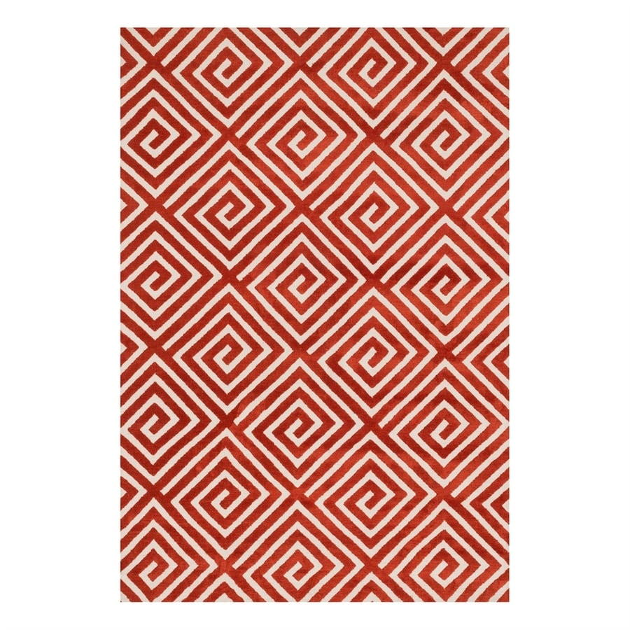 Loloi Cassidy Rust Rectangular Indoor Machine-Made Area Rug (Common: 2 x 3; Actual: 2.25-ft W x 3.75-ft L)