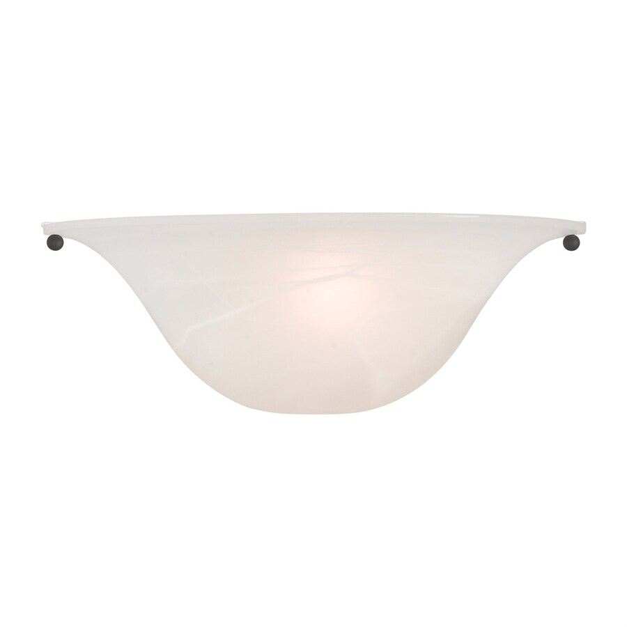Livex Lighting 12.75-in W 1-Light Bronze/brushed nickel Wall Wash Wall Sconce