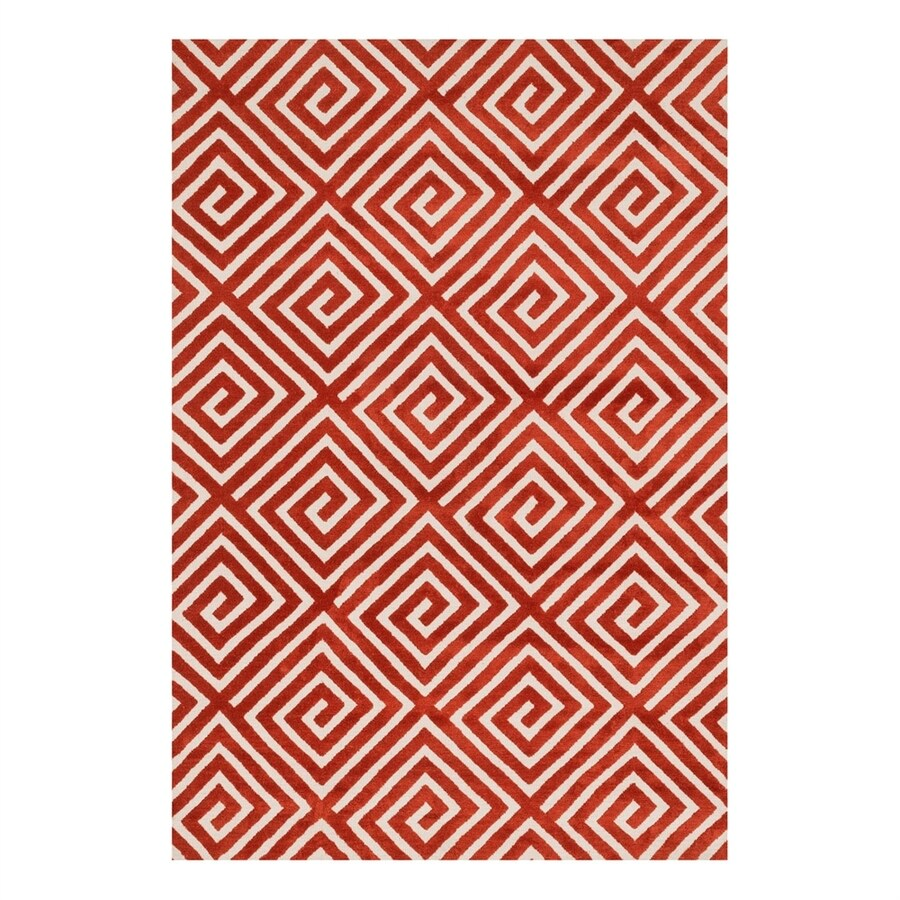 Loloi Cassidy Rust Rectangular Indoor Machine-Made Area Rug (Common: 3 x 5; Actual: 3.5-ft W x 5.5-ft L)