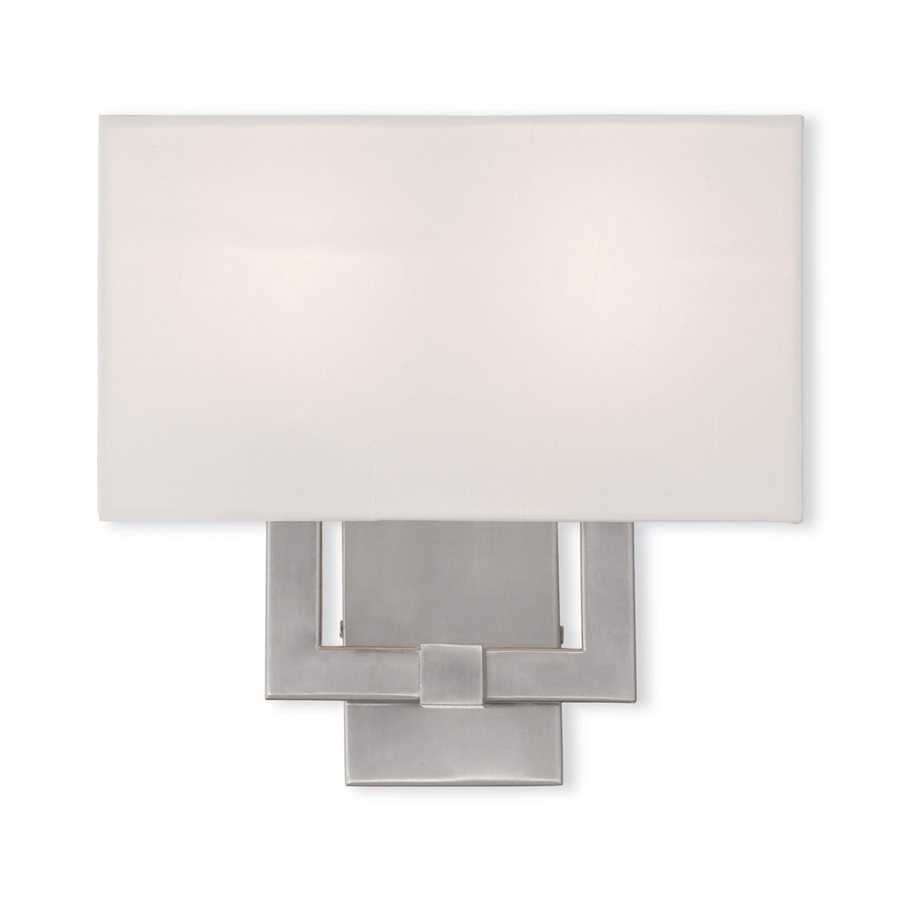 Livex Lighting Hollborn 13-in W 1-Light Brushed Nickel Wall Wash Hardwired Wall Sconce