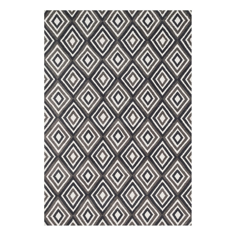 Loloi Cassidy Grey/Charcoal Rectangular Indoor Machine-Made Area Rug (Common: 3 x 5; Actual: 3.5-ft W x 5.5-ft L)