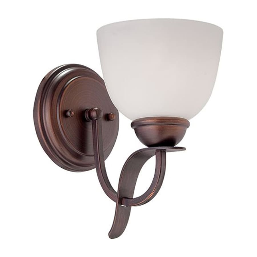Millennium Lighting 5.25-in W 1-Light Rubbed bronze Arm Wall Sconce