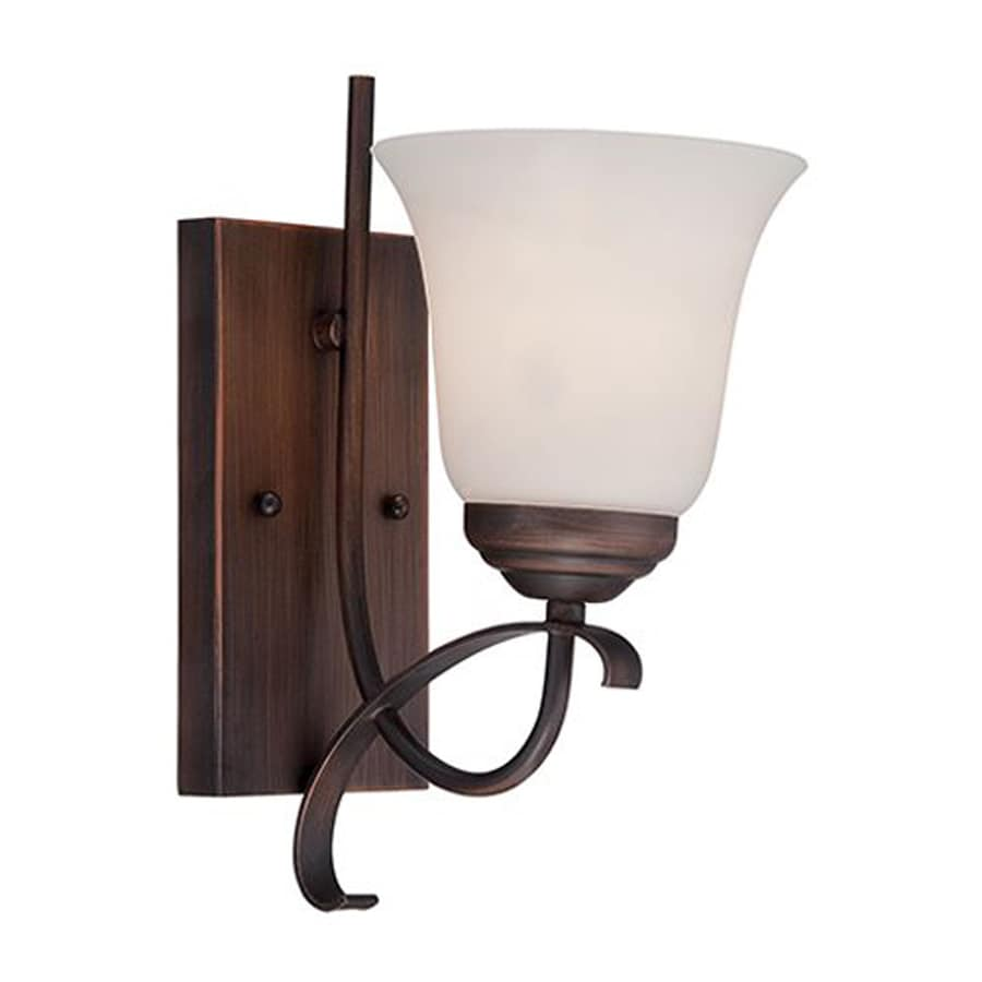 Millennium Lighting Kingsport 5.5-in W 1-Light Rubbed bronze Arm Wall Sconce