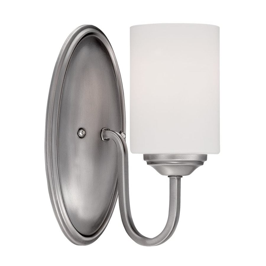 Millennium Lighting Lansing 5-in W 1-Light Brushed Pewter  Arm Hardwired Standard Wall Sconce