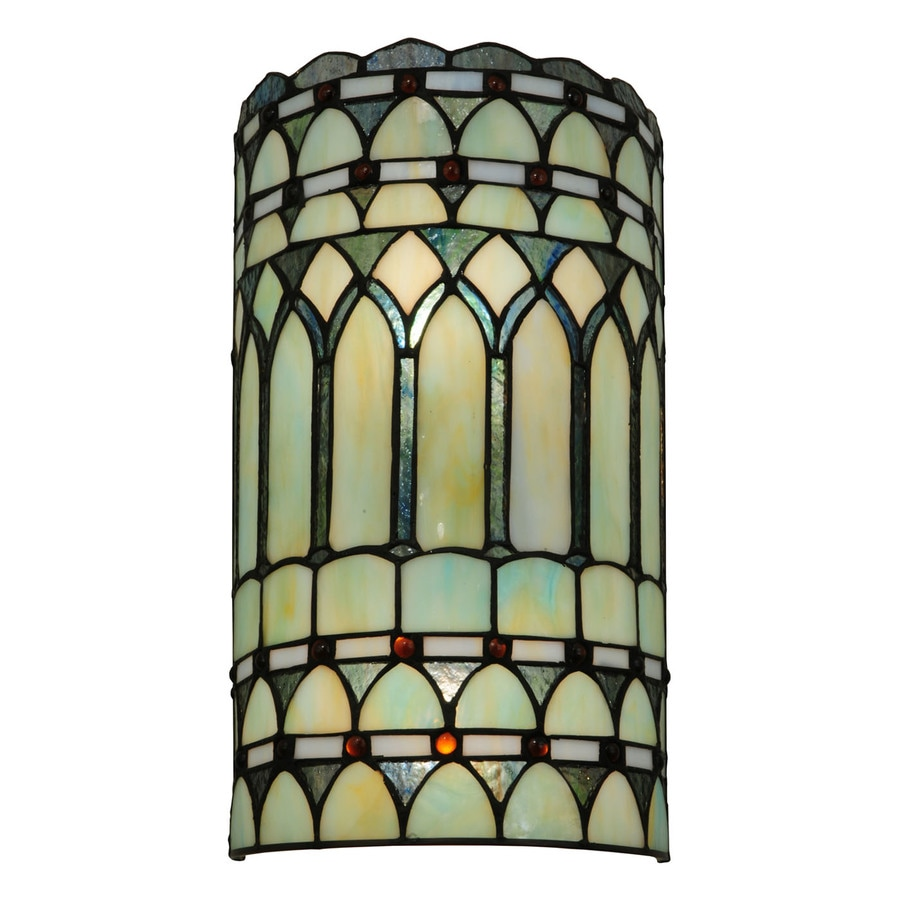 Lowes Tiffany Wall Sconces : Shop Meyda Tiffany Aello 7.75-in W 2-Light Tiffany-style Pocket Wall Sconce at Lowes.com