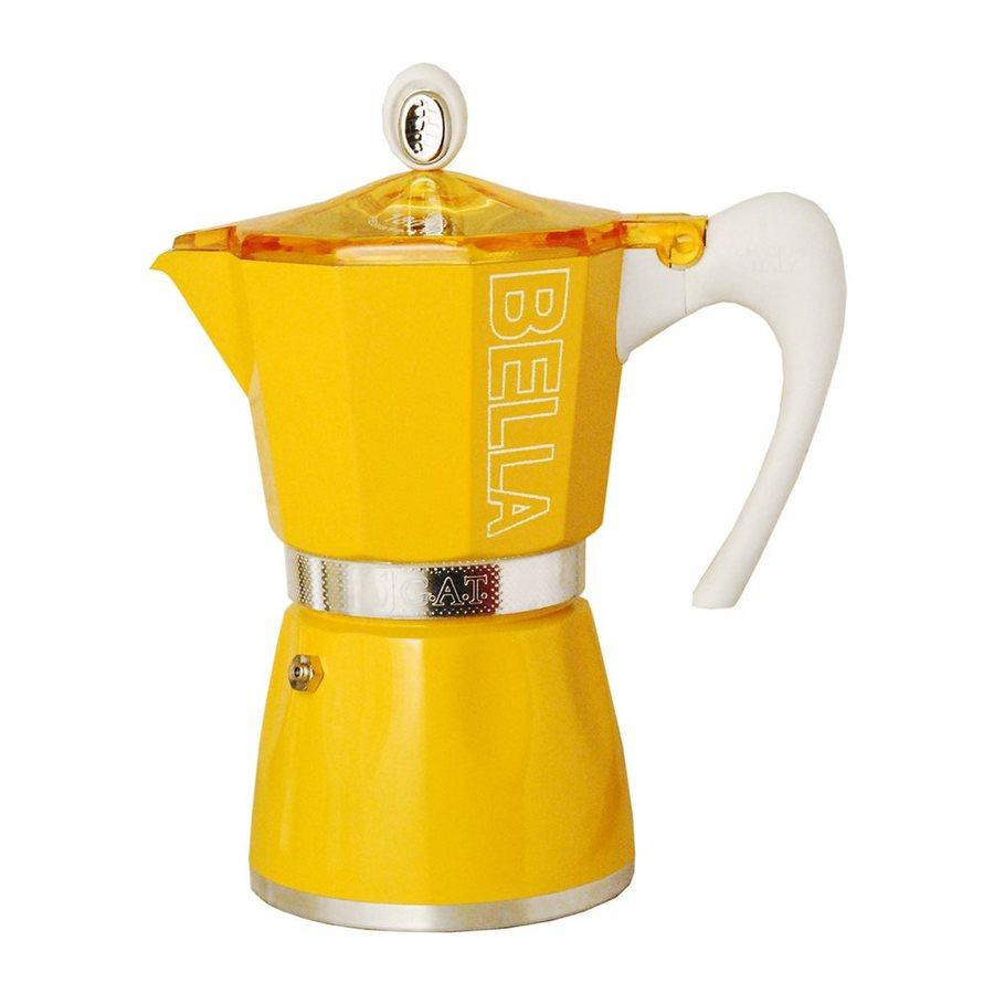 BELLA 6-Cup Sunset Yellow Percolator
